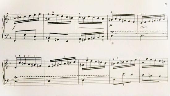 インベンション4番楽譜